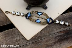 Vintage Brass Sapphire and Blue Rhinestone Buckle by simplymeart, $69.00