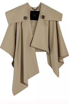 Burberry Prorsum - Cotton-gabardine trench cape from NET-A-PORTER. Saved to For stepping on fallen leaves. Fashion Details, Look Fashion, Winter Fashion, Womens Fashion, Fashion Design, Iranian Women Fashion, Abaya Mode, Mode Hijab, Abaya Fashion