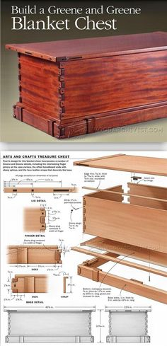 Blanket Chest Plans - Furniture Plans and Projects | WoodArchivist.com #woodworkingplans