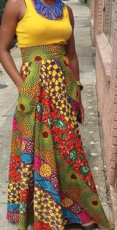 lovedivika:  High waisted west african skirt with pockets
