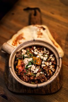 Moroccan Lamb with toasted almonds.