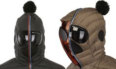 nylon hooded down jacket - The Matt Nylon Hooded Down Jacket comes with integrated goggles that let you enjoy exhilarating winter sports in one piece. While snowboarding and. Puffer Jackets, Winter Jackets, Riders On The Storm, Jacket Images, Snow Gear, Shearling Jacket, Digital Trends, Earmuffs, Gianni Versace