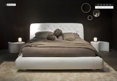 KHAOS - MADE IN ITALY Leather Headboard, Double Beds, Bed Frame, Master Bedroom, Italy, Contemporary, Furniture, Home Decor, Full Beds