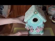Shabby Chic Bird House. http://www.youtube.com/user/alittleshabbychic