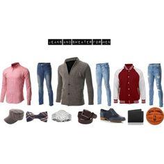 """Jeans and Sweater for men"" FLATSEVENSHOP.COM"