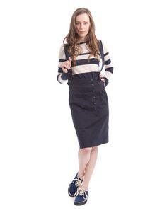 YMC Cross Skirt in Navy