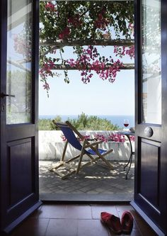 Hotel Signum on Salina in the Aeolian Islands off the coast of Sicily. Outdoor Spaces, Outdoor Living, Window View, Open Window, Coastal Living, Coastal Cottage, Serenity, Feng Shui, Cool Photos