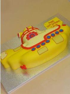 The Beatles' Yellow Submarine Cake Art
