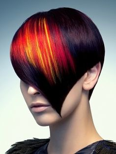 Bold Hair Color Ideas for 2011 From ghd stylers - Down coat jacket Creative Hairstyles, Party Hairstyles, Trendy Hairstyles, Dramatic Hair Colors, Bold Hair Color, Red Color, Bright Hair, Color Mix, Medium Hair Styles