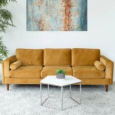 Boho Living Room, Living Room Sofa, Living Room Decor, Living Spaces, Modern Sofa, Mid-century Modern, Mid Century Modern Couch, Mid Century Sofa, Modern Living