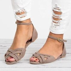 Plain Velvet Ankle Strap Peep Toe Date