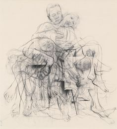 "Jenny Saville ""Chapter (for Linda Nochlin)"" ​Jenny Saville is THE most expensive living female artist, but thanks to a… Life Drawing, Figure Drawing, Painting & Drawing, Jenny Saville Paintings, Gagosian Gallery, A Level Art, Hirst, Artist Portfolio, Meet The Artist"