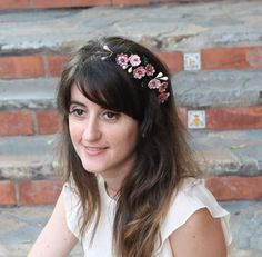 corona flores de porcelana corona flores hechas a por Lolacoqueta