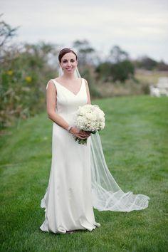 Dress: Priscilla of Boston.