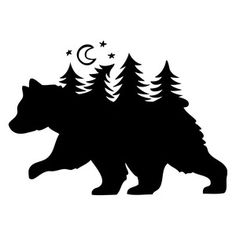 Silhouette Design Store: bear forest
