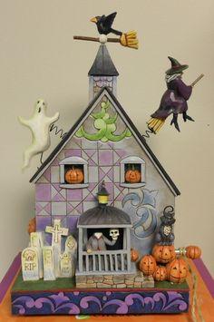 Jim Shore Halloween Haunted House Tonight Your Fears Take Flight w Box 4020464 Halloween Haunted Houses, Halloween Witches, Hallows Eve, Halloween Decorations, Christmas Ornaments, Holiday Decor, Box, Disney, Angel
