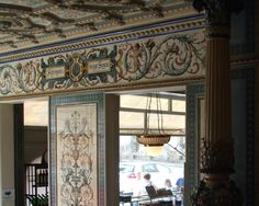 the most beautiful dairy shop in the world. It is located in Dresden at Bautzner Straße 79, and is one of the tourist attractions of the city. Beautiful brand store was built in 1891. He is faced with tiles in the Neo-Renaissance style, which was made by Villeroy & Boch