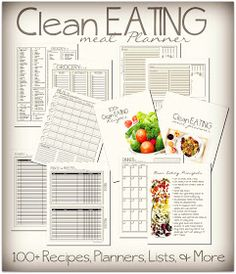 To Insanity & Back: Clean Eating Meal Planner with Recipes
