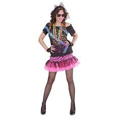 Ce déguisement pour femme des années 80 comprend une jupe, un t-shirt, une paire…