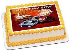Hot Wheels Edible Birthday Cake Topper OR Cupcake Topper, Decor - #edibleprintsoncake