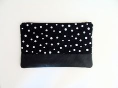 Polka Dots Small Zip Clutch   BRIKA - A Well-Crafted Life