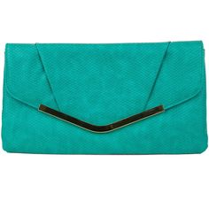 Gunne Sax By Jessica McClintock Arielle Reptile Envelope Flap Clutch ($29) ❤ liked on Polyvore featuring bags, handbags, clutches, imitation handbags, faux-leather handbags, flap clutch, chain handle handbags and blue clutches