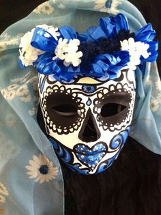 custom for rachael sugar skull halloweenhalloween maskspaper