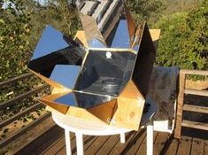 Making A Solar Oven - if I ever have enough time and ambition to make something this complicated.
