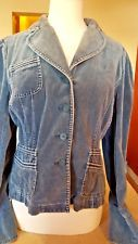 INC International Concepts Womans Teal Velvet Velour Blazer Jean Jacket Style XL