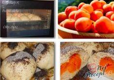Babiččiny ovocné (v mém případě meruňkové) knedlíky | NejRecept.cz Plum, Peach, Baking, Fruit, The Originals, Cocktails, Pies, Craft Cocktails, Peaches
