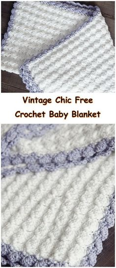 Vintage Chic Free Crochet Baby Blanket Pattern.