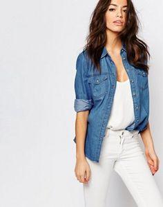 Achetez des tops pour femme chez ASOS. Découvrez les chemises, blouses,  caracos et tops habillés déclinés dans des styles tendance. 1d19549b42eb