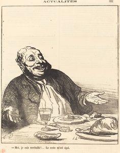 Moi je suis ravitaillé!... | Honoré Daumier, Moi je suis ravitaillé!... (1871)