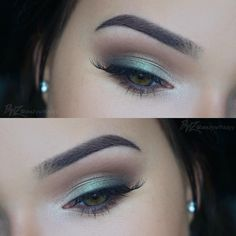 """""""Minty Eyes ✨ used the @anastasiabeverlyhills Self-Made Palette for this look. Colors used: 'Sherbert' as transition shade, 'Hot Chocolate' on the crease,…"""""""