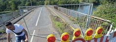 Die Kampmannbrücke zwischen Heisingen und Kupferdreh steht vor dem Abriss und ist gesperrt. Nicht jeder hält sich dran.