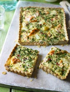 Salmon and watercress quiche. A gorgeous recipe to cook now that spring and Easter are on their way. A brilliant to make when cooking for a crowd.