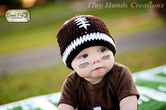 Football baby hat.