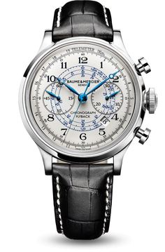 Discover the Capeland 10006 automatic chronograph watch for men, designed by Baume et Mercier, Swiss Watch Maker.