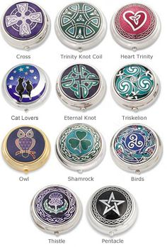Other Accessories - Enameled Pill Box - The thistle one as decor