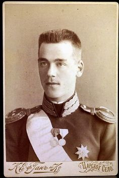 A RARE antique cabinet photograph of Grand Duke Michael Alexandrovich younger brother of czar Nicholas II of Russia, by photographer of the Imperial Court von Khan at Tsarskoe Selo (Tsar's Village), circa 6 x 4 in. Tsar Nicolas Ii, Tsar Nicholas, Catalina La Grande, Grand Duc, Maria Feodorovna, House Of Romanov, Russian Revolution, Anastasia, Royals