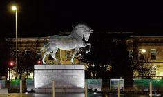 Andy Scott   Sculpture   Equus Clutha Cathcart Street, Greenock
