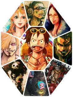 One Piece The straw hats Luffy zoro Sanji Nami Robin chopper ussop Franky brook Otaku Anime, Me Anime, Manga Anime, Anime Art, One Piece Manga, One Piece Fanart, Robin, One Piece Tattoos, The Pirate King