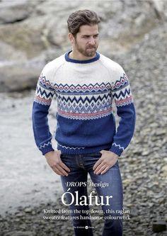 The Knitter Issue 93 Weaving Yarn, Winter Suit, Drops Design, Knit Crochet, Street Wear, Crochet Patterns, Men Sweater, Mens Fashion, Suits