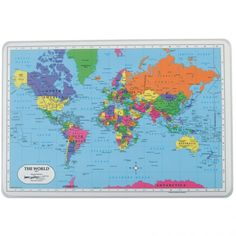 World Placemat  Two-sided world political and physical map - ages 3+
