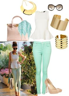 """""""Cool Tones"""" by neonballrooms ❤ liked on Polyvore"""
