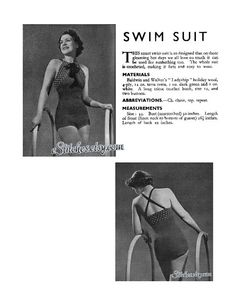 1930s Halter Swim Suit or Bathing Suit with Criss by eStitches, $3.75