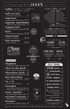 35 Beautiful Restaurant Menu Designs Restaurants often over look their menu designs. sure probably visited numerous restaurants with ugly menus. If a restaurant owner, you might think that the Menu Board Design, Cafe Menu Design, Food Menu Design, Restaurant Menu Design, Restaurant Branding, Restaurant Menu Boards, Restaurant Owner, Coffee Shop Menu, Coffee Shop Design