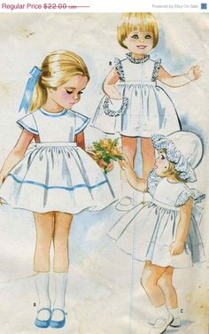 Holiday Savings Vintage McCalls 8270 UNCUT Childs by RomasMaison, $17.60