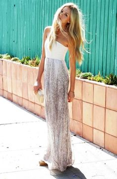8048951b166 50 Outfits to Wear This SummerWachabuy. White Maxi ...