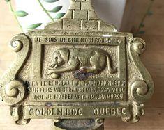 Golden Dog of Quebec Door knocker - Brass